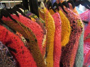 Hand knit shawls