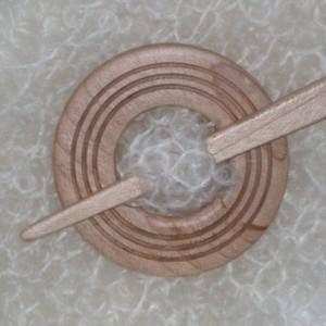 maple shawl pin