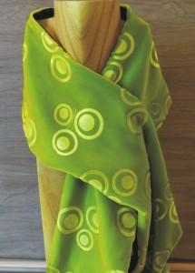 Luxurious hand-embossed velvet scarf.