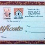 Gallery / Cafe Gift Certificate