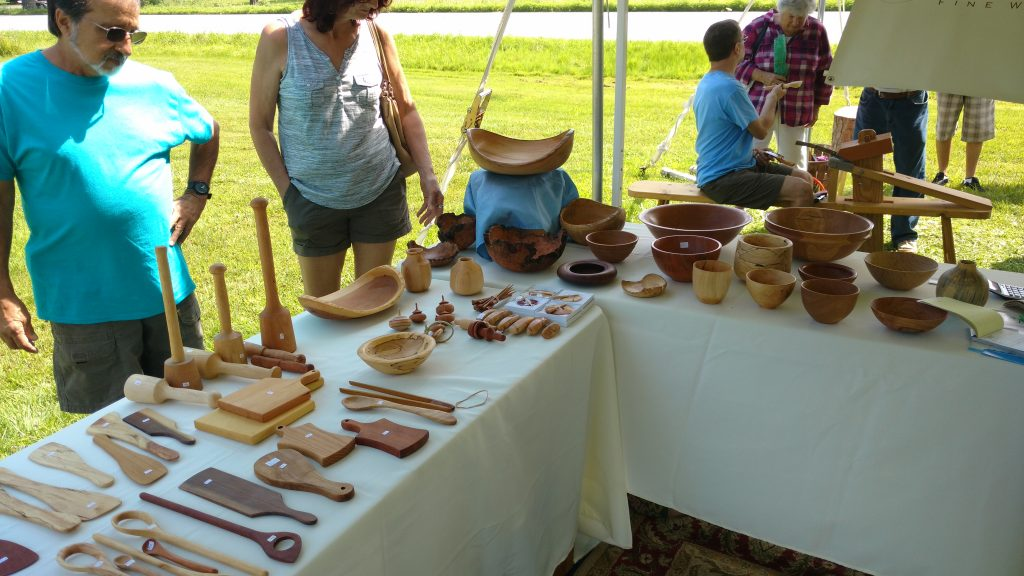 Wooden items for sale.